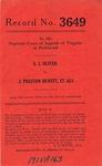 S. J. Oliver v. J. Preston Hewitt, et al.