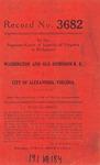 Washington and Old Dominion Railroad v. City of Alexandria, Virginia