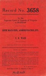 Effie Mays Fein, Administratrix, etc. v. C. R. Wade