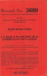 Maggie Beverly Powell v. E. E. Magee, In His Own Right and as Attorney in Fact for E. A. LaFrage