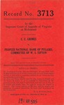 C.C. Grimes v. Peoples National Bank of Pulaski, Committee of W.S. Tipton