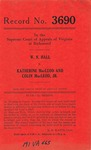 W. N. Hall v. Katherine MacLeod and Colin MacLeod, Jr.