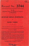 Leo Butler Company, Incorporated v. Oliver C. Wilbun