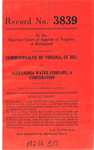 Commonwealth of Virginia, Ex Rel. &c. v.  Alexandria Water Company, a Corporaration