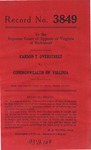 Carson T. Overstreet v. Commonwealth of Virginia