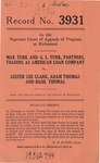 Max Turk and G. L. Turk, Partners, Trading as American Loan Company v. Lester Lee Clark, Adam Thomas and Basil Thomas