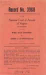 Wallace Danner v. John J. Cunningham