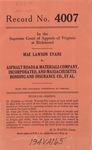 Mae Lawson Evans v. Asphalt Roads & Materials Company, Inc. and Massachusetts Bonding and Insurance Company, et al.
