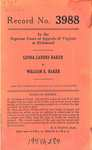 Lenna Landes Baker v. William E. Baker