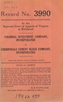 Colonial Investment Company, Inc. v. Cherrydale Cement Block Company, Inc.