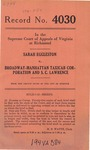 Sarah Eggleston v. Broadway-Manhattan Taxicab Corporation and S. C. Lawrence