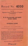 W. H. Wallingford and Harry Oliver Cooper v. Katherine Karnes