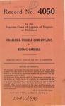 Charles E. Russell Company, Inc. v. Rosa C. Carroll