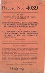 The First National Exchange Bank of Roanoke, Guardian of the Estate of Nellie Whorley Stone v. A. L. Hughson and Colonial-American National Bank, Executors of the Estate of Eustace B. Stone, et al.
