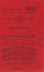 Jesse G. Alspaugh, Jr. v. Elizabeth Diggs and Harvey Karkus