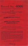 Kramer Brothers Company v. Bertha Elizabeth Powers, Administratrix, etc.