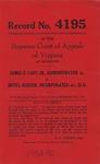 James E. Cary, Sr., Administrator, etc. v. Hotel Rueger, Inc., et al.