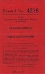 Dr. Maurice Santurian v. Erdman Counts, Goldia M. Counts and T. A. Large