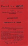 Arthur J. Knight v. Commonwealth of Virginia