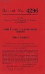 James A. Davis, t/a Davis Motor Company v. Clyde E. Hackney