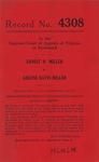 Ernest B. Miller v. Arlene Davis Miller