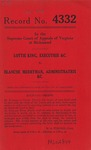 Lottie King, Executrix, etc. v. Blanche Merryman, Administratrix, etc.