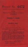 Theodore W. Kearns v. Gladys C. Hall