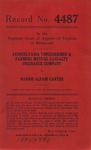 Pennsylvania Threshermen & Farmers Mutual Casualty Insurance Company v. Nannie Alease Carter
