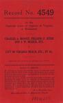 Charles A. Mowry, Fielding F. Jeter, and J. W. Musick, etc. v. City of Virginia Beach, etc., et al.