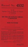 New York Life Insurance Company, Inc. v. Jessie Ryan Eicher
