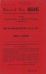 City of Winchester, etc., et al., etc. v. John D. Glover