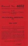 Vida Tatum Smith, Administratrix, etc. v. Dora Tatum