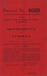 Bank of Giles County, et al. v. D. W. Mason, et al.