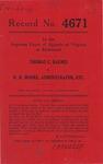 Thomas C. Barnes v. W. R. Moore, Administrator, etc.