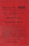 Cline Mundy, t/a General Motor Lines v. William H. Shelor, t/a Floyd-Roanoke Freight Line