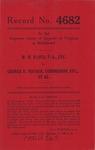 W. W. Floyd, t/a, etc. v. George D. Fischer, Commissioner, etc., et al.