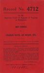 Ben Cooper v. Charles Davis, an Infant, etc.
