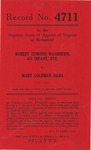 Robert Edmond Washburn, an Infant, etc. v. Mary Coleman Dana