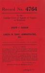Joseph C. Basham v. Lorena M. Terry, Administratrix, etc.