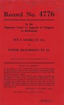 Sue S. Leake, et al. v. Fannie Richardson, et al.