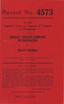 Asphalt Service Company, Inc. v. Peggy Thomas
