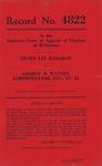 Henry Lee Hargrow v. George M. Watson, Administrator, etc., et al.