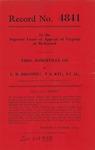 Thomas Somerville Company v. L. R. Broyhill, et al.