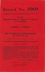 George J. Carroll v. Roy Robertson Richardson, an Infant, etc.