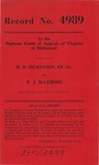H. D. Dickenson and Cora Dickenson v. W. J. McLemore