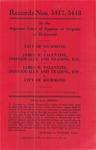 City of Richmond v. James H. Valentine, Individually and t/a, etc.; and, James H. Valentine, Individually and t/a, etc., v. City of Richmond