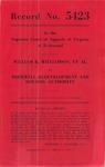 William K. Williamson, et al., v. Hopewell Redevelopment and Housing Authority