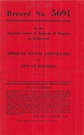 American Viscose Corporation v. City of Roanoke