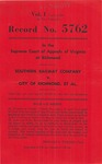 Southern Railway Company v. City of Richmond, et al.