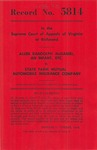 Allen Randolph McDaniel, an Infant, etc., v. State Farm Mutual Automobile Insurance Company